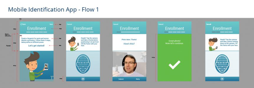 1st screen for UX-UI through enrollment process