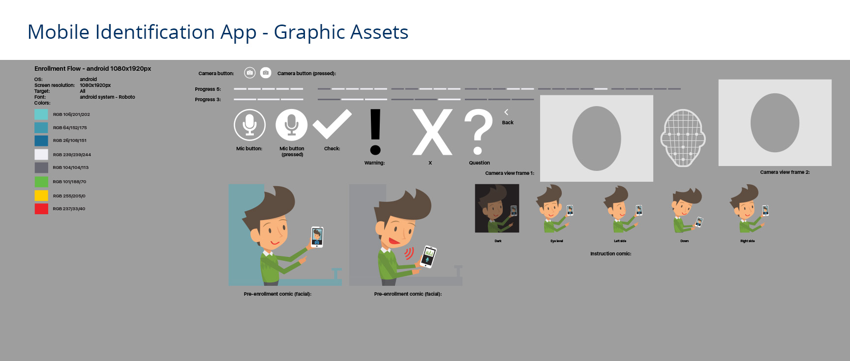 Assets used for UI for mobile identification app