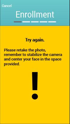 Mobile App Screen - Warning