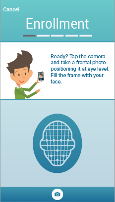 Alternate UI for facial recognition for mobile identification app