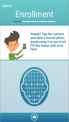 UI for facial recognition for mobile identification app
